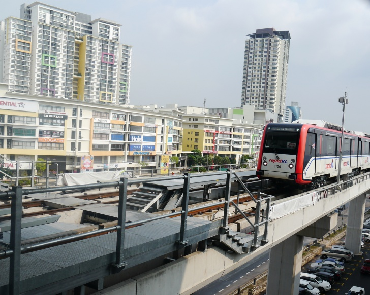 The RM10 billion Ampang LRT Extension Line project serving Puchong has seen tremendous price appreciation over the years. Photo: Khalil Adis