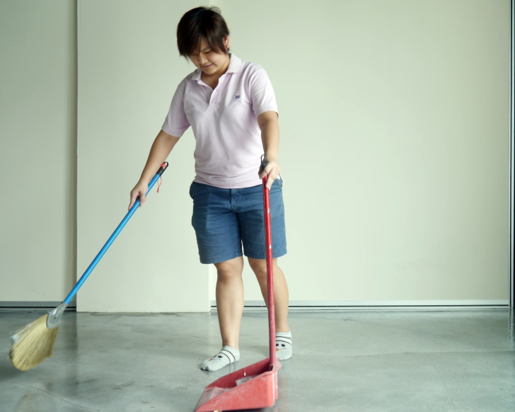 Start sweeping and dust away all your bad luck before the Chinese New Year. Photo: Khalil Adis